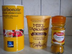 miel bicarbonate curcuma (attention au curcuma qui tâche la peau)