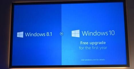 Windows 10 will be a free #upgrade for Windows 7 and 8.1 users