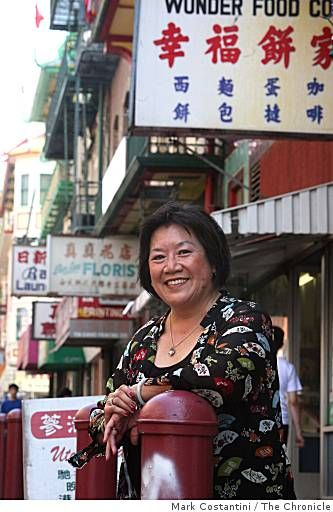 """Shirley Fong-Torres wants to know if she should wear the black blouse with the Asian design or the less whimsical top she has on already.  """"[...] maybe I'll put on a little lipstick,"""" she says, rushing to a nearby Chinatown business, where she can duck into the bathroom for a quick wardrobe change.  [...] between interviews - she's scheduled to do a cooking segment on ABC's """"View From the Bay"""" in the afternoon, then a spot on CBS' Channel 5 news - she's showing us around.  Everyday…"""