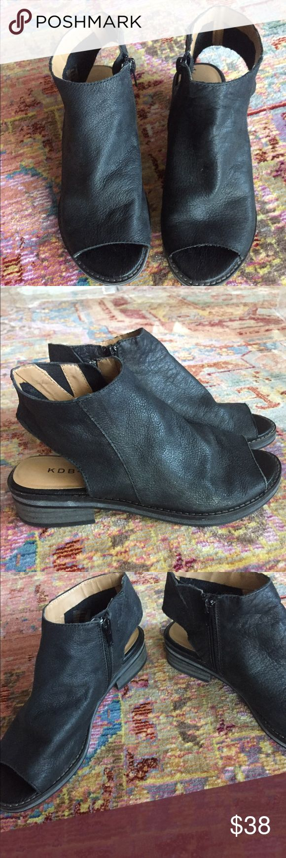 Kelsi Dagger Peep Toe Zipper Boots Only worn once! 6.5 Kelsi Dagger peep toe zipper boots! Retail for around $100 Kelsi Dagger Shoes Ankle Boots & Booties