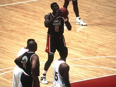 From 13 Olympic Moments that Changed History - Barcelona, 1992: The 'Dream Team' marked the first time active NBA players were recruited for the U.S. Olympic Basketball team. They dominated the competition, ultimately defeating Croatia to bring home the gold.