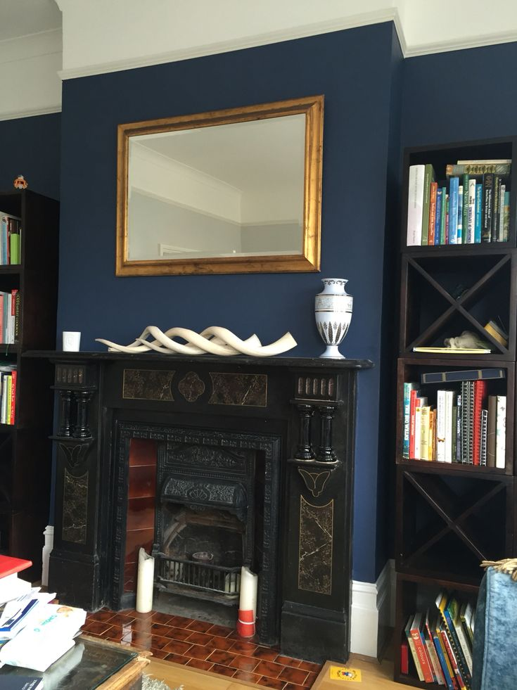 Dulux Breton blue in living room matched with dulux polished pebble❤️