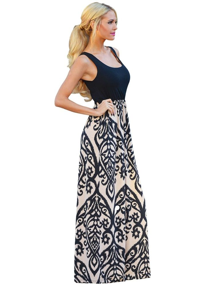 Racer Back Tribal Maxi Dress The Fashion Bible jdzXM