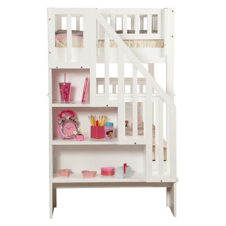 Woodland Twin over Full Staircase Bunk Bed - The Woodland Twin over Full Staircase Bunk Bed has a classic design with smart storage updates that make it perfect for your little one's bedroom....
