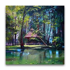 Little Lake In The Forest (12×12)