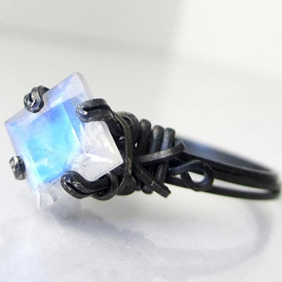 I found 'Princess Cut Rainbow Moonstone Oxidized by PassionateJewelry' on Wish, check it out!