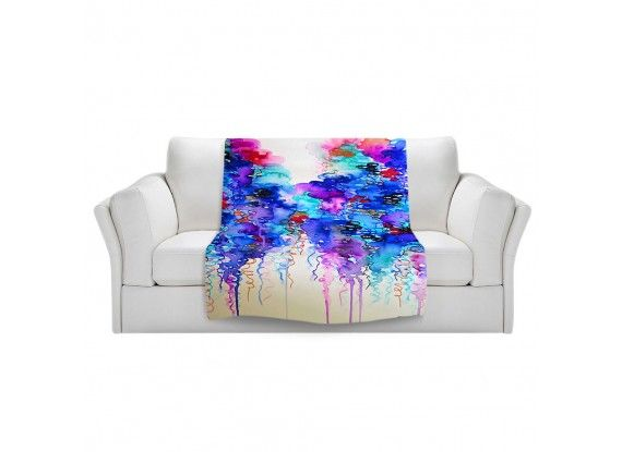 Ebi Emporium Fine Art Colorful Warm and Cozy Fleece Blanket #throwblanket #blanket #decor #JuliaDiSano #DianocheDesigns #rain #abstract #art #fineart #painting #whimsical #decorative #livingroom #bedroom #bedding #dorm #fleece