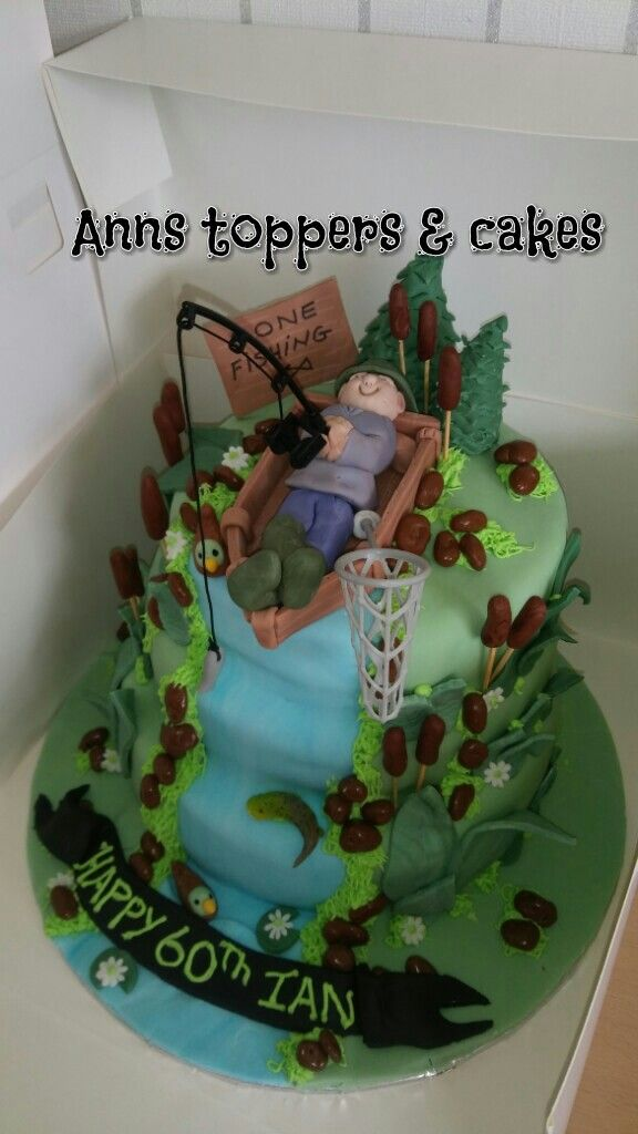 Fishing fans birthday cake