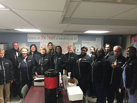 In honor of Environmental Services Week, the team at St. Francis and Franklin Hospitals in Wisconsin sports a new team jacket.