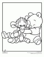 winnie the pooh coloring pages baby printable small picture