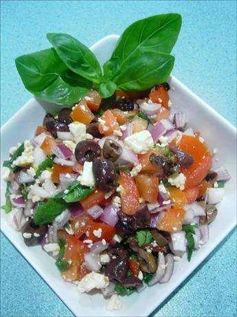 Tomato basil and feta salad   Salads   Pinterest   Feta salad ...