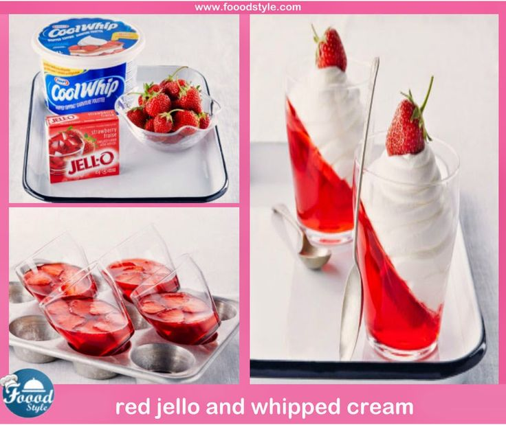 Awesome red jello and whipped cream idea ! - Foood Style