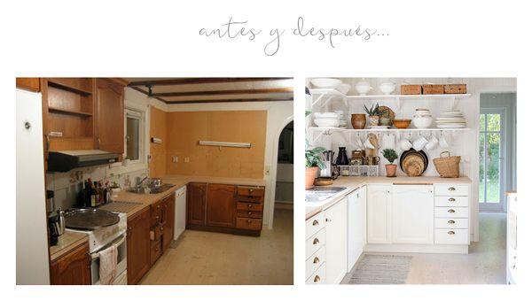 Antes y después de una cocina anticuada - Ana Pla - interiorismo y decoración