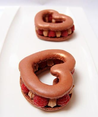 Macaron chocolat gingembre