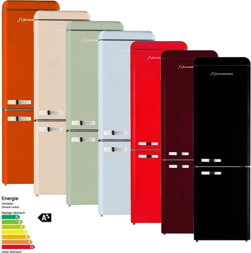 De retro jaren '50 koelkasten van Schaub Lorenz beschikken nu ook over een energieklasse A++ label. (foto: Schaub Lorenz Benelux)