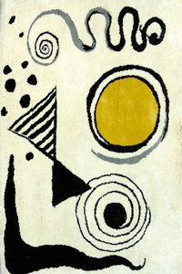 Alexander Calder - 1960 - wall tapestry; i really really love these - they are like little sketches in this format.