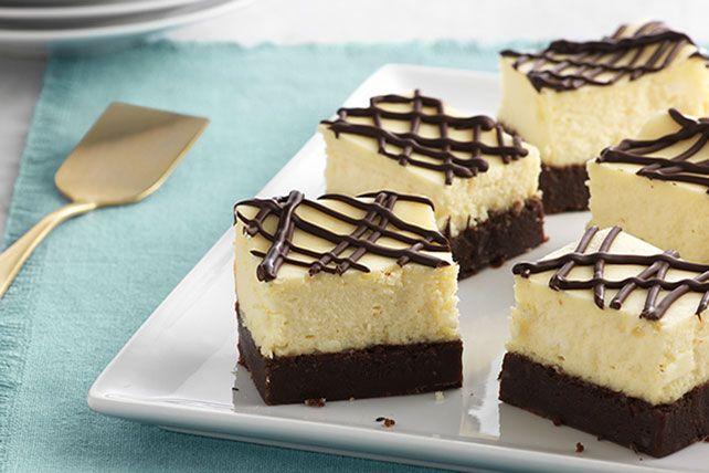 Brownie-Bottom Cheesecake Bars