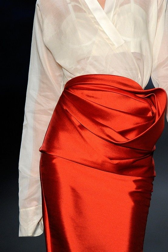 Red wrap pencil skirt- Amazing formal Holiday attire