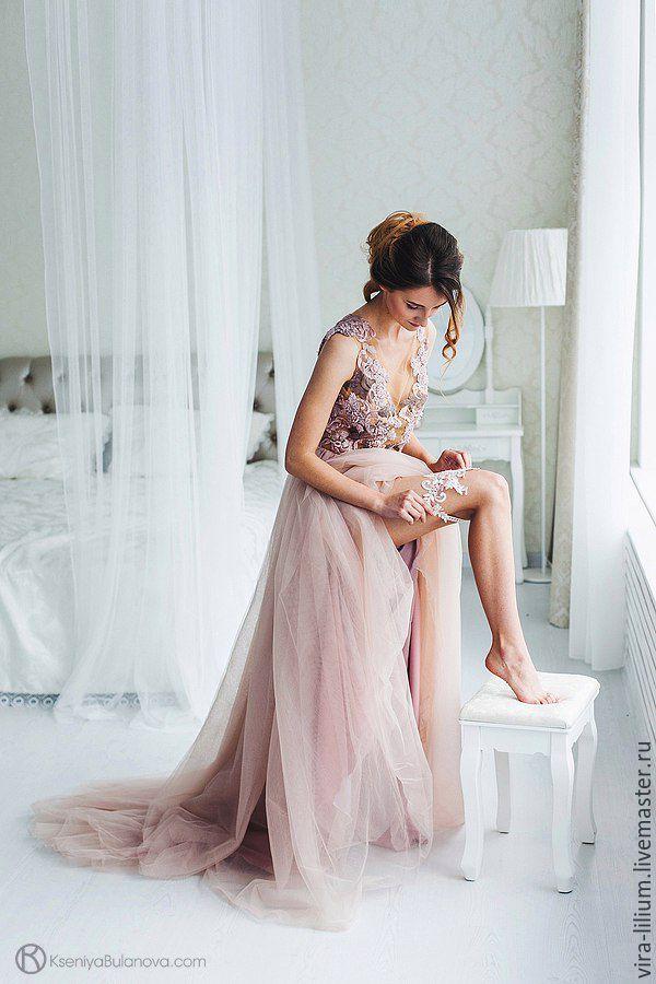 Wedding Garter | Кружевная подвязка невесты с бисером