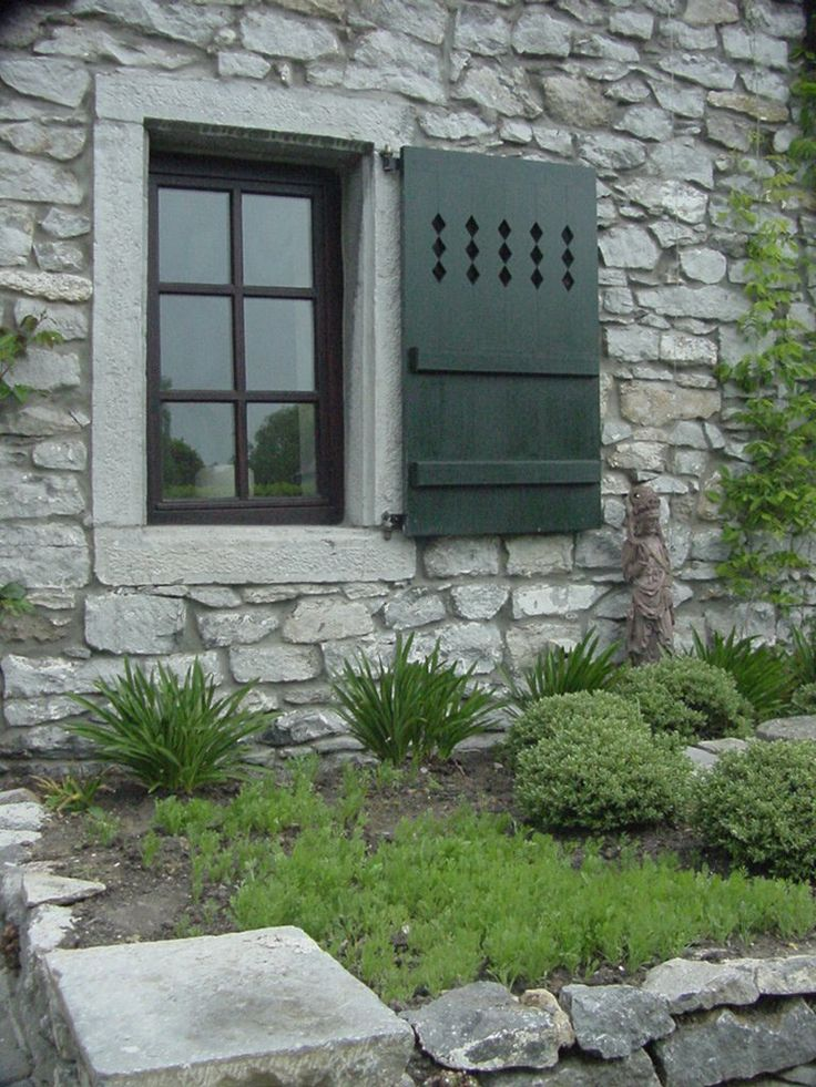 962 best images about stone on pinterest see more best for Cottage style exterior shutters