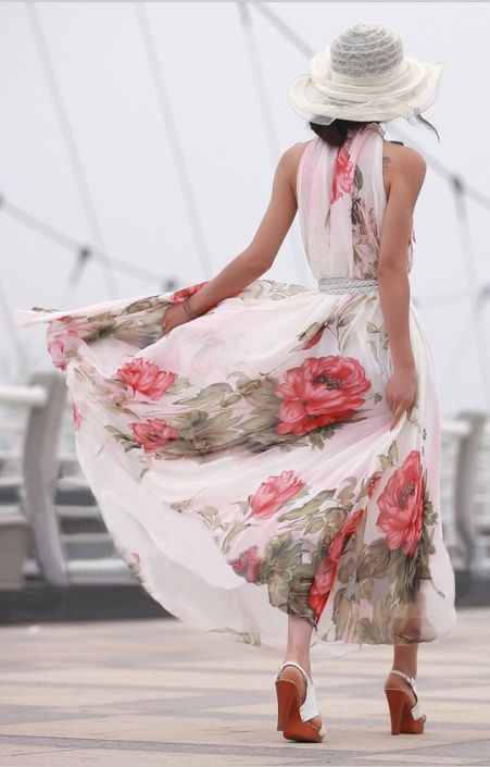 Pretty | Floral Print  Dress.  (=^.^=) Thanks, Pinterest Pinners, for stopping by, viewing, re-pinning, & following my boards.
