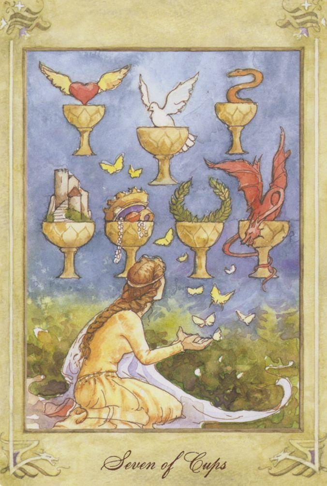 Resultado de imagem para 7 of cups tarot