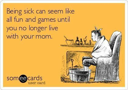 Humorous Quotes About Being Sick by @quotesgram