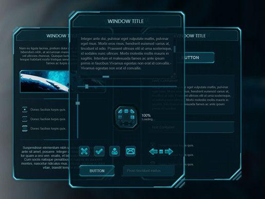A Custom Menu Hud Script: Holo UI Is A Beautiful Sci-Fi UI For Unity. The Package