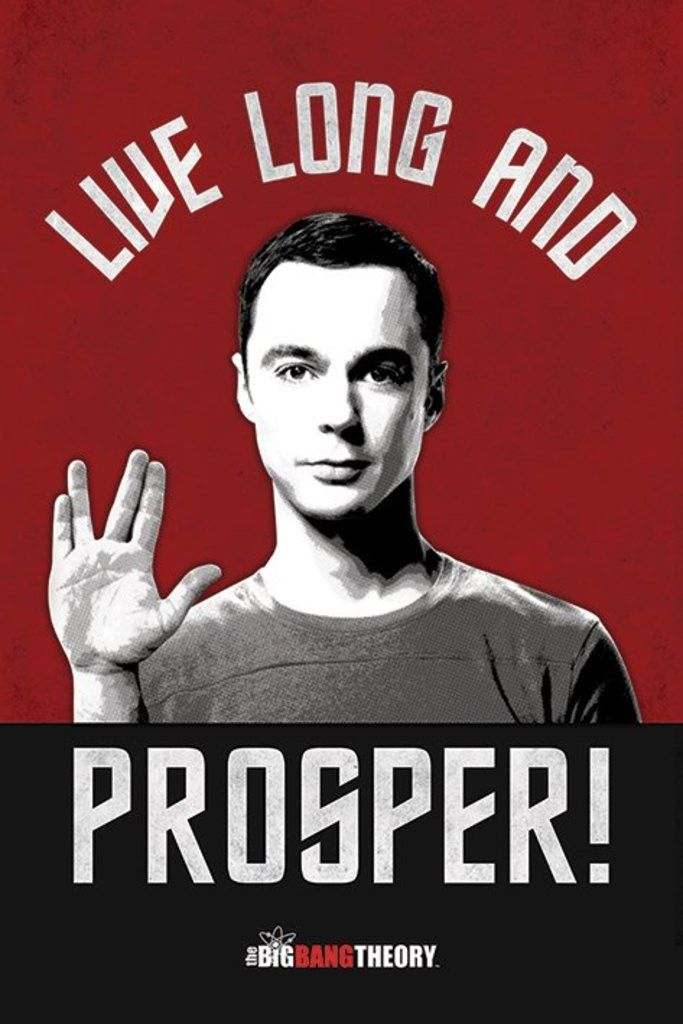 Big Bang Theory - Live Long and Prosper - Official Poster. Official Merchandise. Size: 61cm x 91.5cm. FREE SHIPPING                                                                                                                                                                                 More