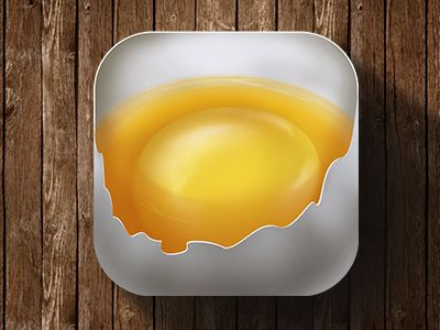 """""""Break an Egg"""" app icon ★ Find more at http://www.pinterest.com/competing/"""