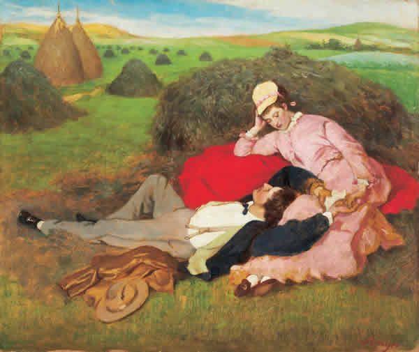 Szinyei Merse Pál (1845-1920) -Szerelmespár II., 1918