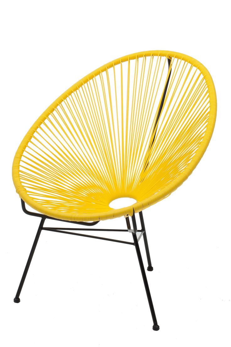 Replica Acapulco Chair - Yellow -- The Acapulco chair has been manufactured in Mexico continuously since the 1950's.