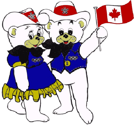 The Calgary Olympics and their incredibly cute mascots! Ahhh so awesome.