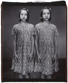 Image result for twins standing looking at camera 1950s