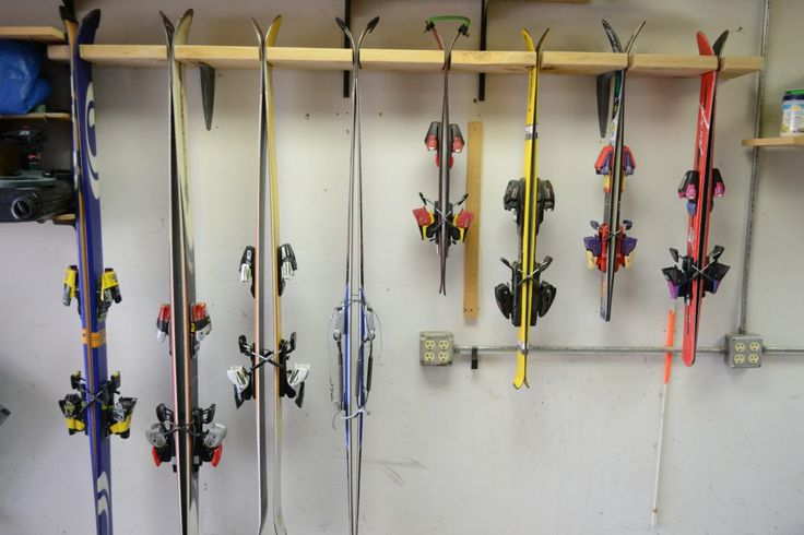 Make your own garage ski rack for cheap!  Brilliant!