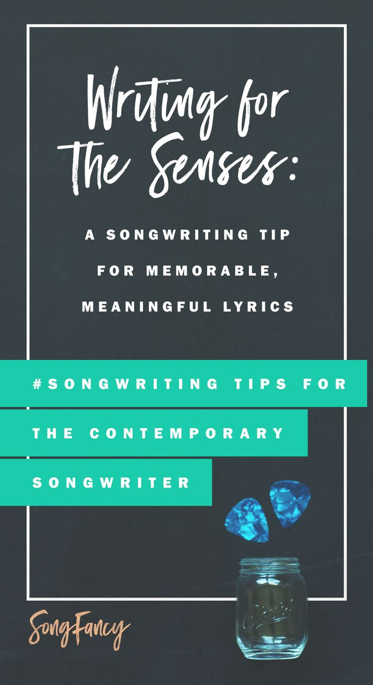 Songwriting tip! Here's how to write better, more meaningful lyrics using all…