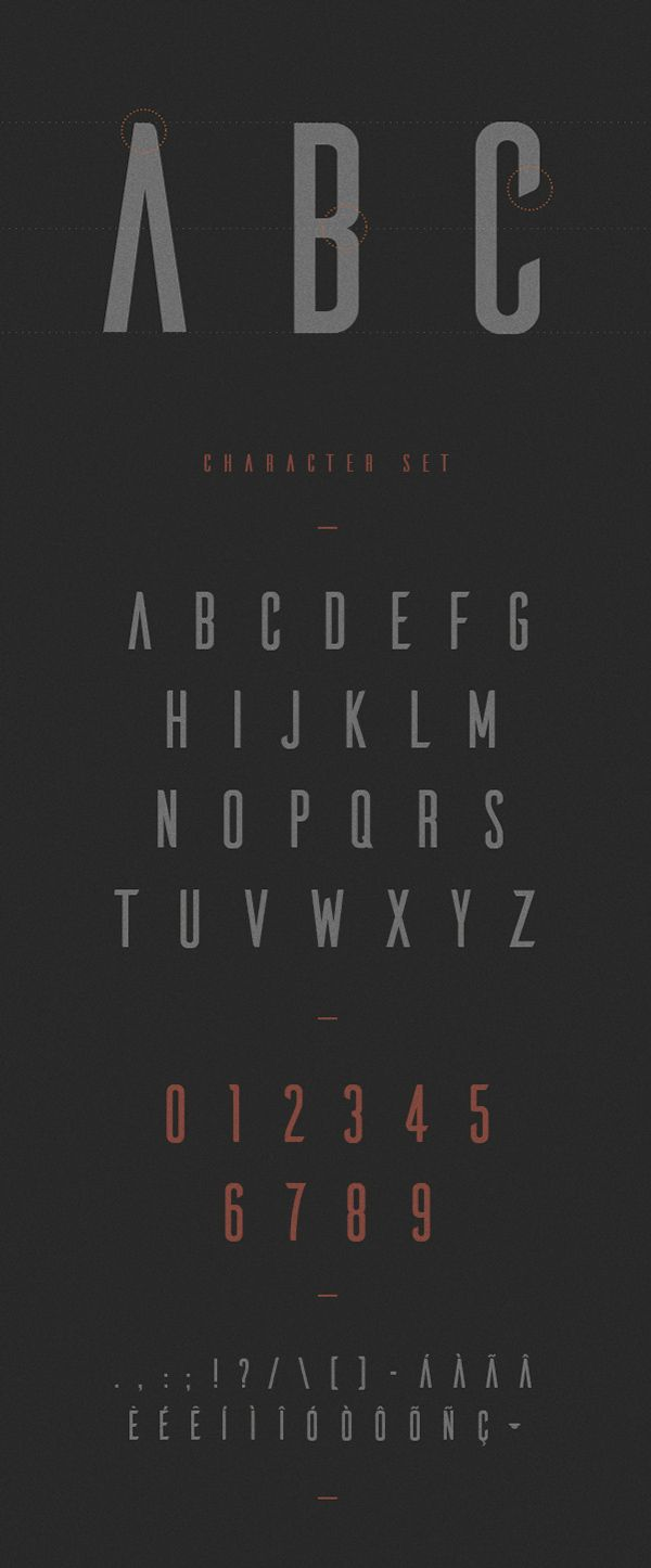 Ailerons free typeface by agonz, via Behance #free #typeface