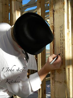 Building a new home?  Write scriptures in each room on the studs.