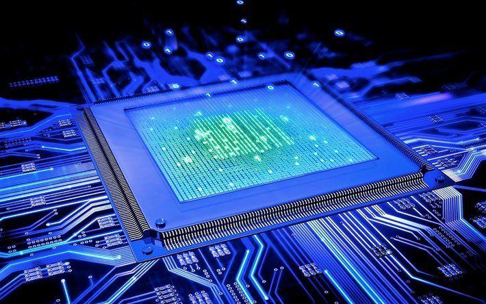 Télécharger fonds d'écran CPU, Processeur, carte Mère, les Condensateurs