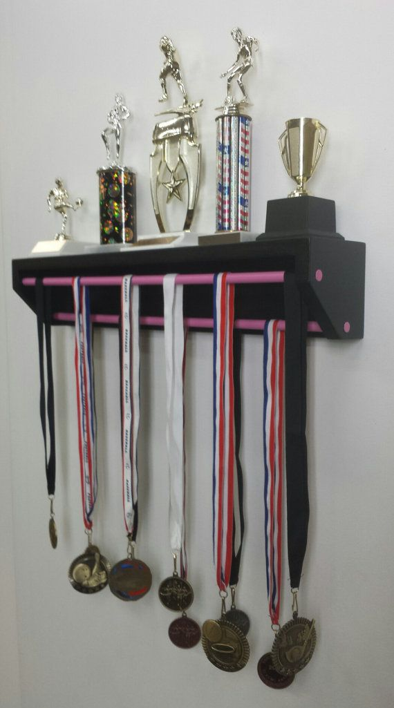 Trendy Trophy Display-Petite Version Black. medal holder ...