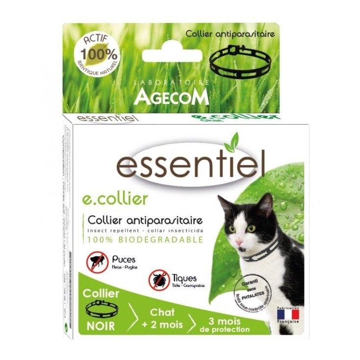 Collier répulsif anti puces et tiques pour chats naturel à base de géraniol. Traitement efficace à petit prix.