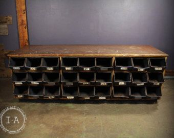 Vintage Steel 100 Drawer Parts Organizer Storage Cabinet Bins Etsy In 2020 Drawer Hardware Metal Storage Bins Hardware Store
