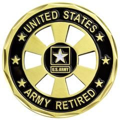c28beb90d1f U.S. Army Retired Wheel Cut Out Coin
