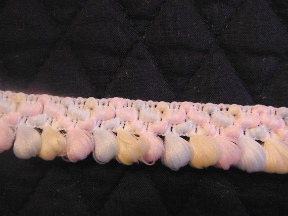 5/8 inch Pink Yellow Blue Trim by HoleInMyBucket on Etsy, $1.00