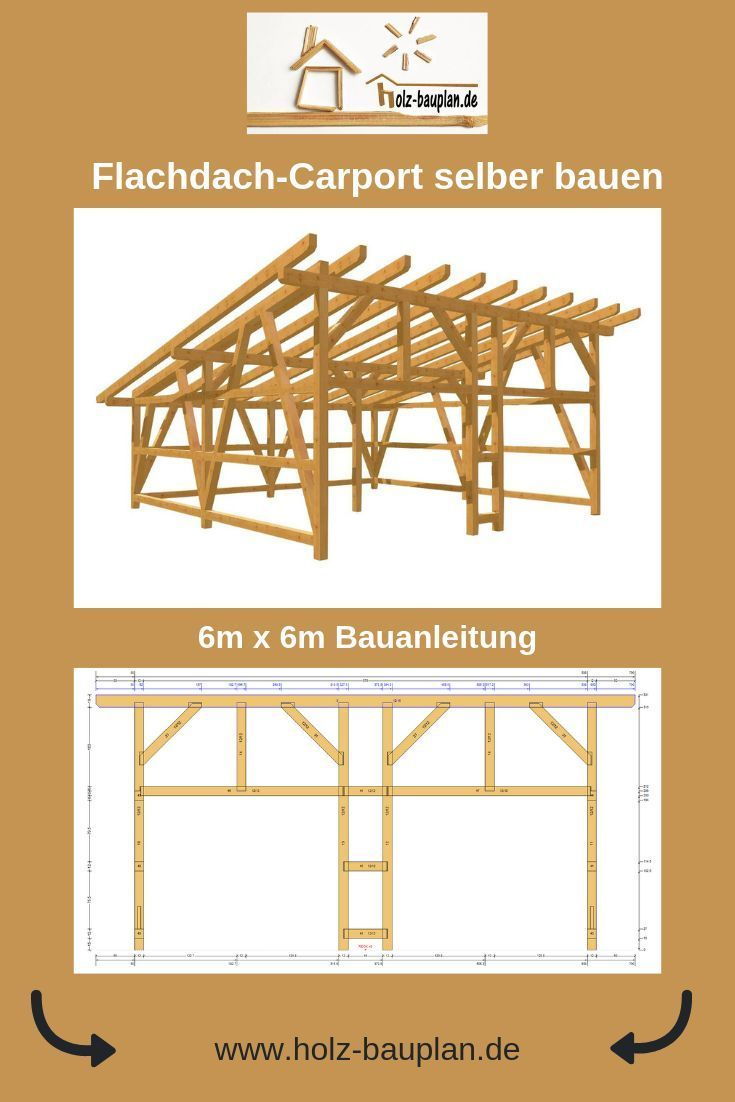 Holz Carport In 2020 Carport Bauen Carport Carport Selber Bauen