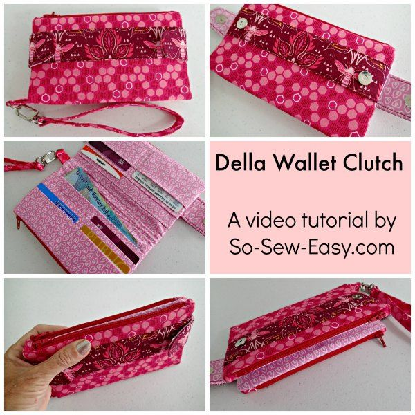 Sewing Video For The Swoon Della Wallet Pattern Things