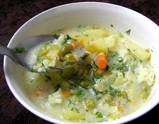 W Mojej Kuchni Lubię.. : kalafiorowa-groszkowa zupa na maśle...