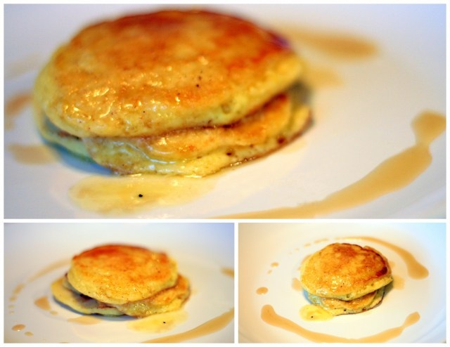 ... ricotta pancakes with strawberry rhubarb compote lemon ricotta