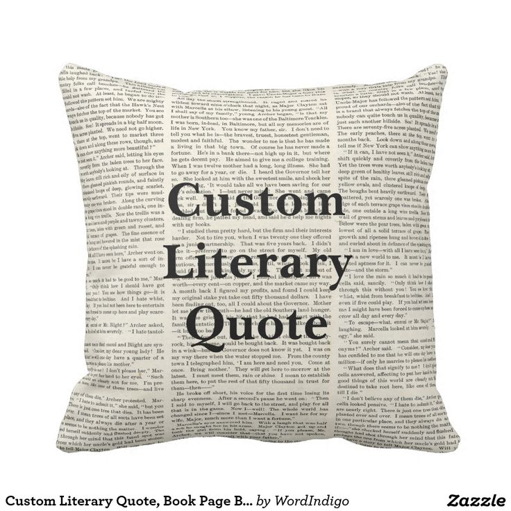 Custom Literary Quote, Book Page Background