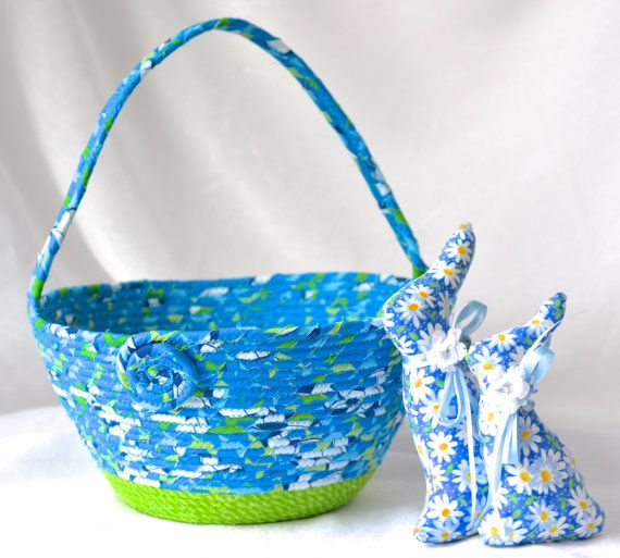 SALE..... Soccer Storage Basket Handmade Blue by WexfordTreasures